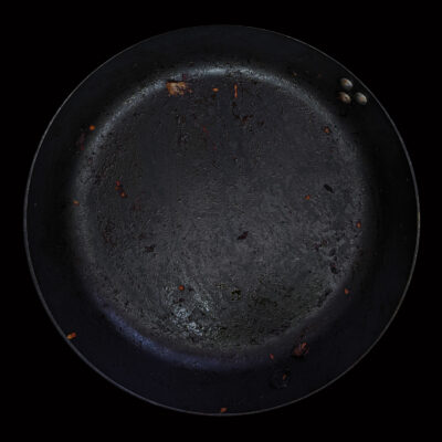 Technique: Non-stick coated pan before Wash-up