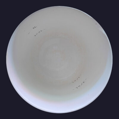 Scratch-texturising and Smoothie-etching of the white plastic mixing Bowl